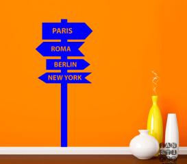 Заказать наклейку Париж-Рим- Берлин- Нью-Йорк