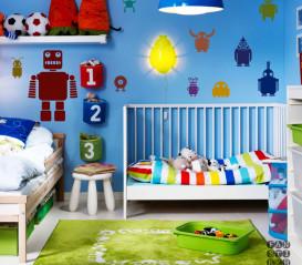 Комплект интерьерных наклеек с Роботами в детскую комнату