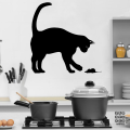 Виниловая наклейка Кошка и Мышка