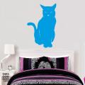 Стикер на стену Сидящая Кошечка