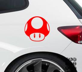Наклейки для автомобилей Гриб Марио