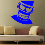 Принт Злой Бендер. Angry Bender sticker