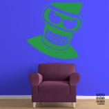 Интерьерная наклейка на стену Злой Бендер. Angry Bender sticker