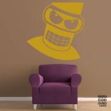 Стикер в интерьер Злой Бендер. Angry Bender sticker