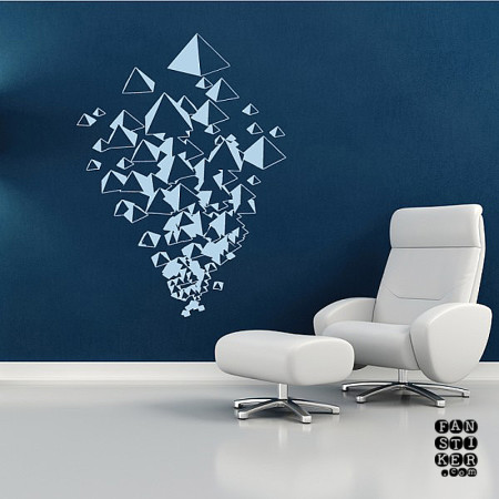 Наклейки на стены 3D дизайн. Абстрактные стикеры