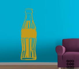 Виниловая декоративная интерьерная наклейка на стену Пепси кола