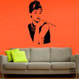 Принт на стену Одри Хепберн. Audrey Hepburn sticker
