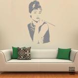 Стикер на стену Одри Хепберн. Audrey Hepburn sticker