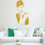 Стикер в интерьер Одри Хепберн. Audrey Hepburn sticker