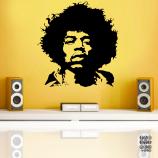 Интерьерная наклейка Джими Хендрикс. Jimi Hendrix sticker
