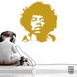 Виниловый декоративный интерьерный стикер Джими Хендрикс. Jimi Hendrix sticker