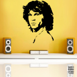 Наклейка для декора Джим Моррисон. Jim Morrison sticker