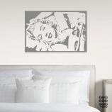 Виниловая наклейка Монро в постели
