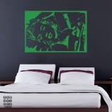 Виниловая наклейка на стену Монро в постели
