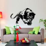 Виниловая наклейка на стену Пантера