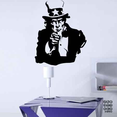 Дядя Сэм.  Uncle Sam sticker