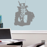 Принт Дядя Сэм.  Uncle Sam sticker