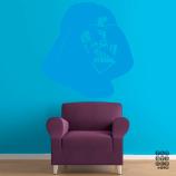 Виниловая декоративная интерьерная наклейка на стену Шлем Вейдера. Vader's helmet sticker