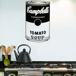 Виниловая наклейка на стену Суп Кэмпбэлл.Campbell Soup sticker