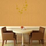 Виниловая декоративная интерьерная наклейка на стену Одуванчики Минимализм
