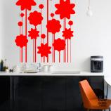 Оформление стен наклейкой Цветы Арт
