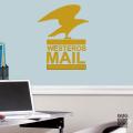 Виниловая декоративная интерьерная наклейка на стену Почта Вестероса. Westeros Mail sticker