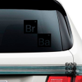 Наклейки на автомобили Во Ввсе Тяжкие Лого. Breaking Bad logo sticker