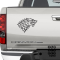 Наклейка на автомобиль Дом Старков. House Stark sticker