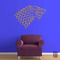 Виниловая декоративная интерьерная наклейка на стену Дом Старков. House Stark sticker