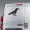Наклейки на автомобили Зима Близко. Ворон | Sticker Winter is coming. Raven