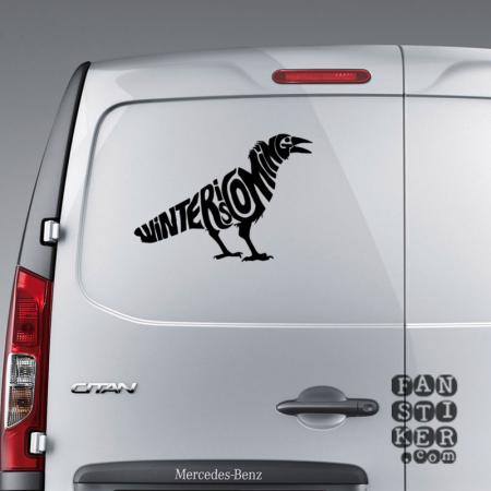 Зима Близко. Ворон | Sticker Winter is coming. Raven