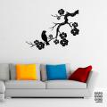 Интерьерная наклейка Сакура и Соловей | sticker Sakura and Nightingale