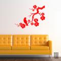 Стикер в интерьер Сакура и Соловей | Sticker Sakura and Nightingale