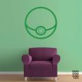 Виниловая наклейка на стену Покебол|Pokemon-Go-Ball
