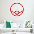 Виниловая декоративная интерьерная наклейка на стену Покебол|Pokemon-Go-Ball