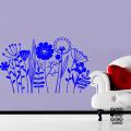 Оформление стен наклейкой Цветы на поляне