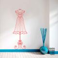 Виниловая декоративная интерьерная наклейка на стену Кованый Манекен