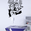 Стикер на стену Рик и Морти «Рискуй Всем»