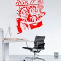 Виниловый декоративный интерьерный стикер Рик и Морти «Рискуй Всем»
