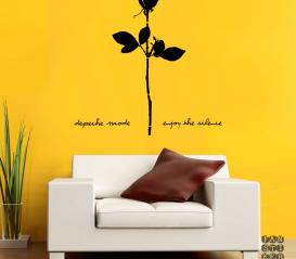 Виниловая наклейка Depeche Mode Rose.Роза Депеш Мод