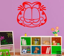 Оформление стен наклейкой Кот Гарфилд. Garfield sticker