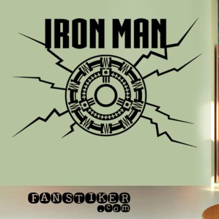 Виниловая наклейка Железный Человек. Sticker Iron Man