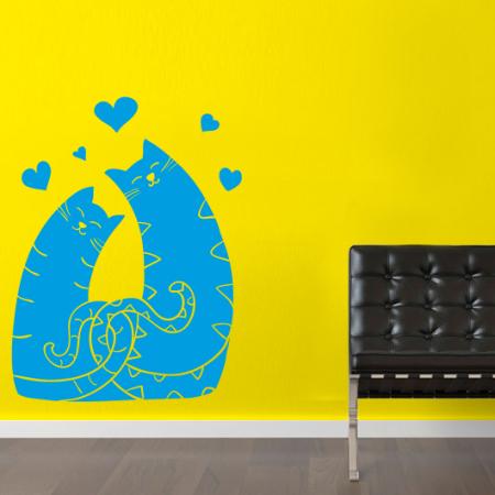 Наклейка декоративная Счастливые Коты
