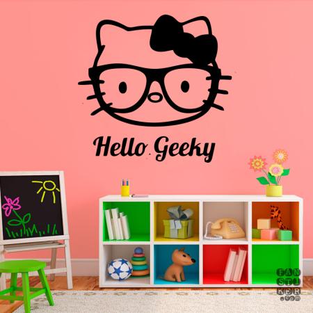Хэллоу Гикки. Hello Geeky sticker