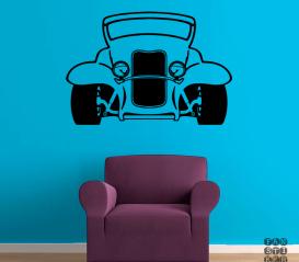 Стикер на стену Ретро-автомобиль