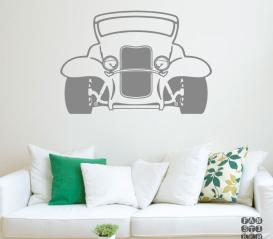 Декоративная наклейка Ретро-автомобиль