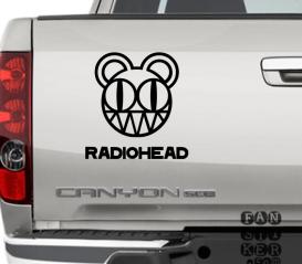 Наклейка на автомобиль Радиохэд. Radiohead sticker.