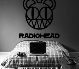 Наклейка для декора Радиохэд. Radiohead sticker.
