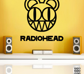 Принт на стену Радиохэд. Radiohead sticker.