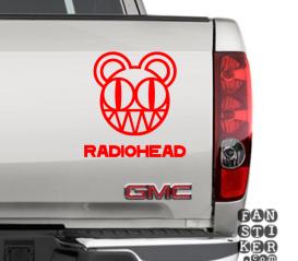 Наклейки на автомобили Радиохэд. Radiohead sticker.
